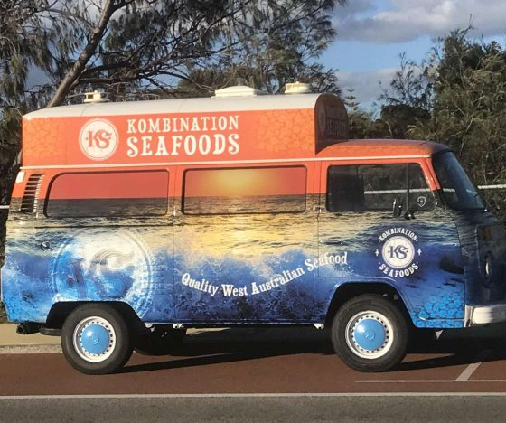 The Kombination Seafoods van.