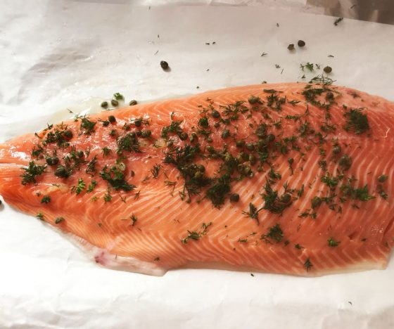 A fresh piece of NZ Salmon.